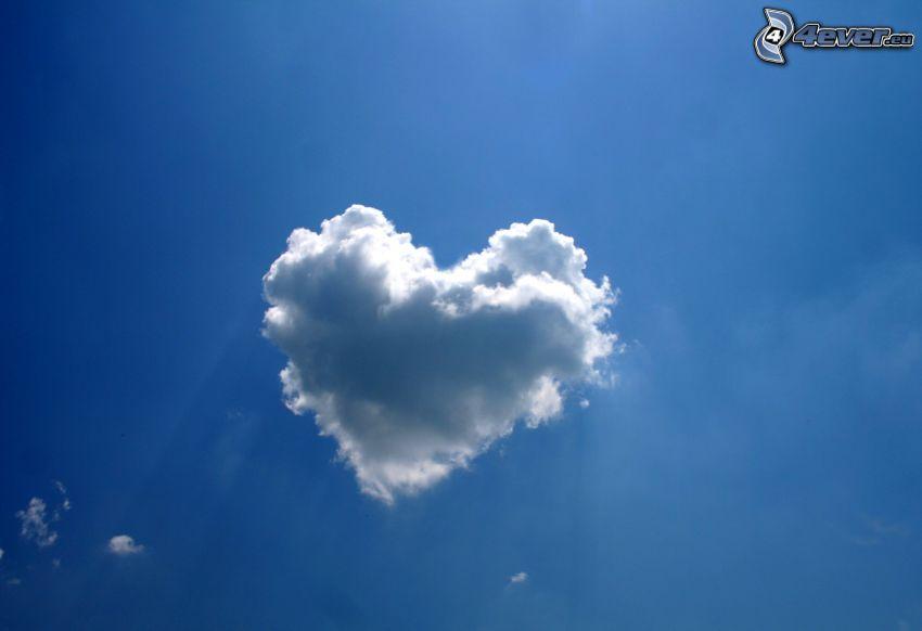 corazón en el cielo, nube