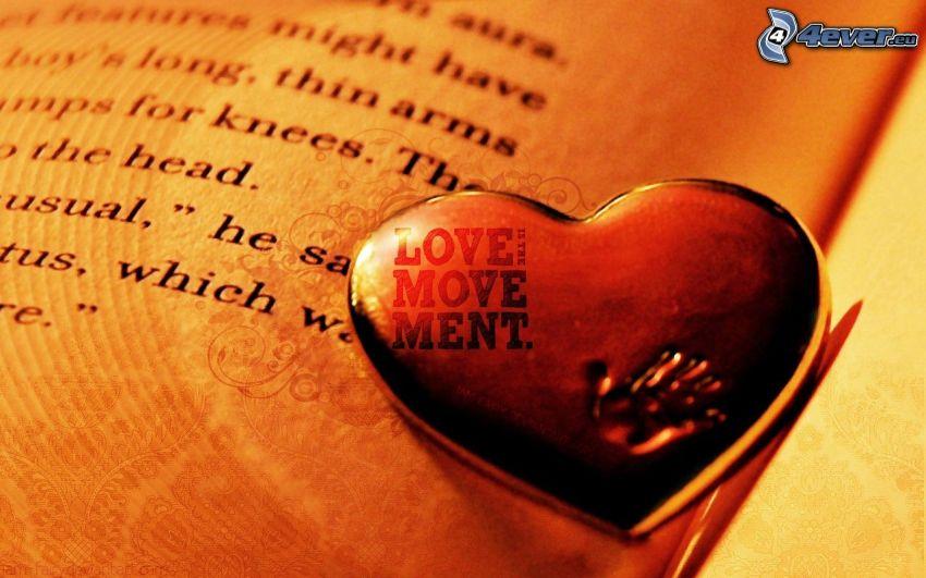 corazón en el libro