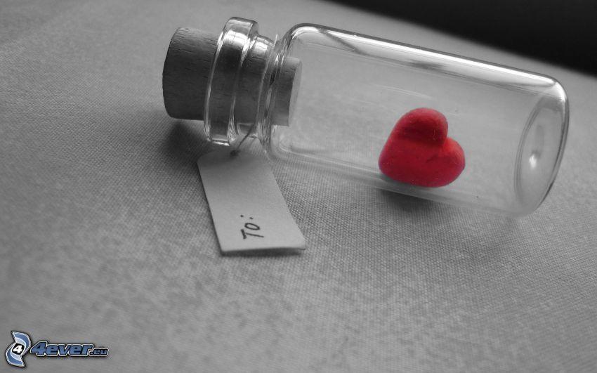 corazón en una botella