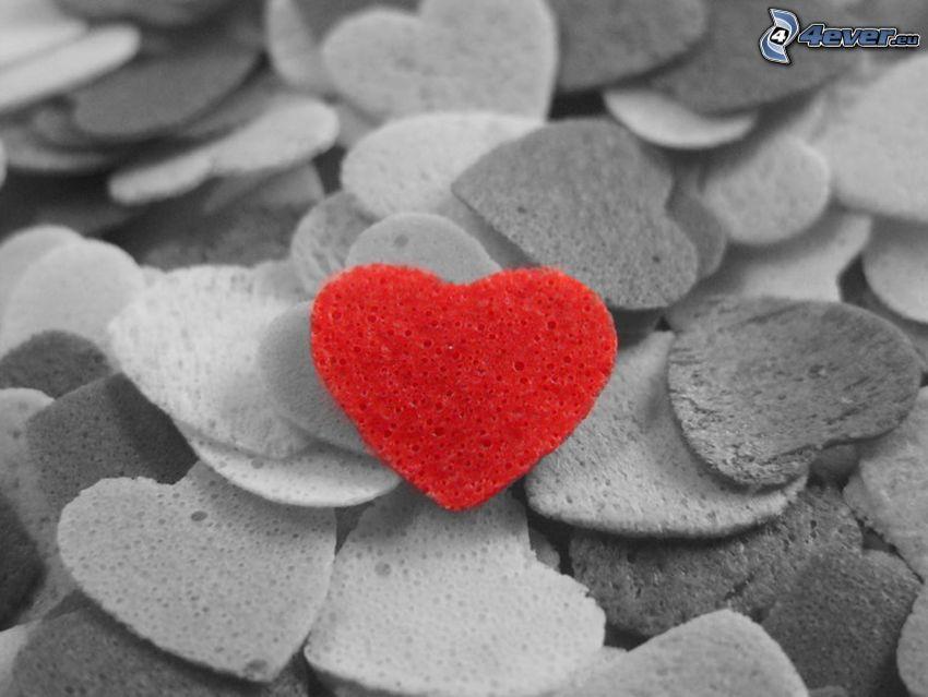 corazones, corazón rojo