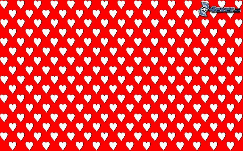 corazones, fondo