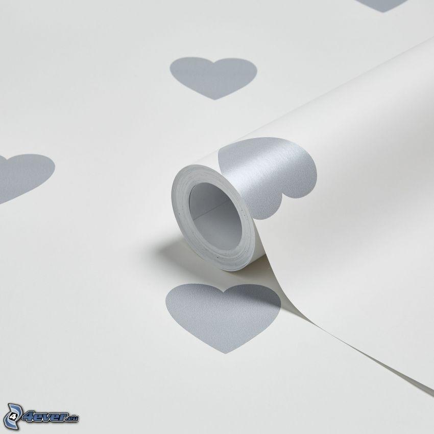 corazones, papel pintado