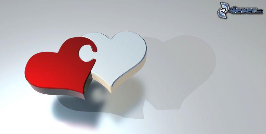 corazones, puzzle