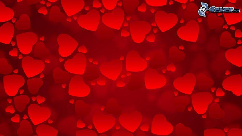 corazones rojos de San Valentín