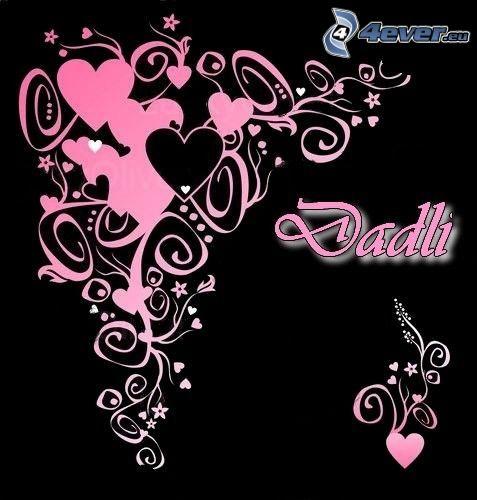 corazones rosados, dadli