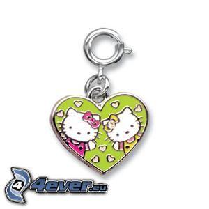 Hello Kitty, colgante con el corazón