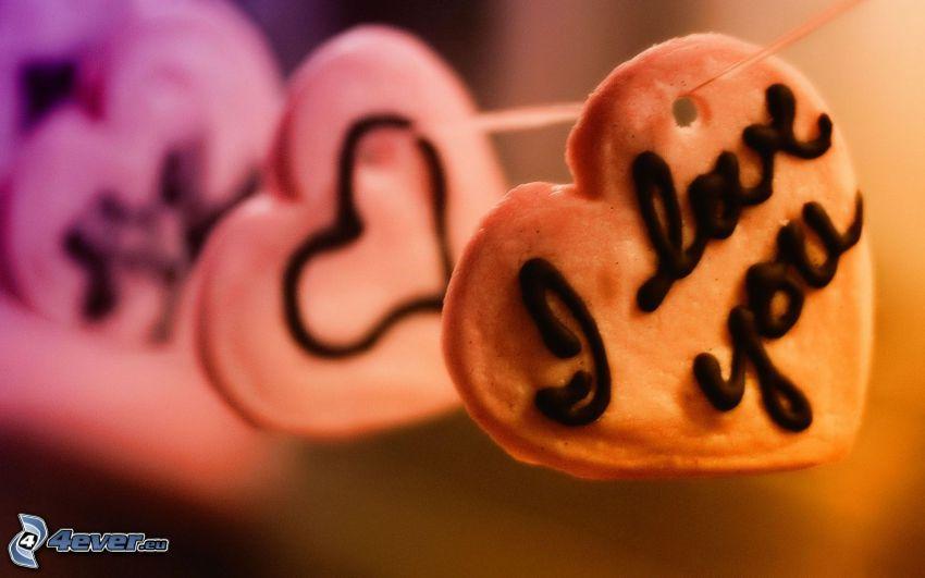 I love you, corazones, postre