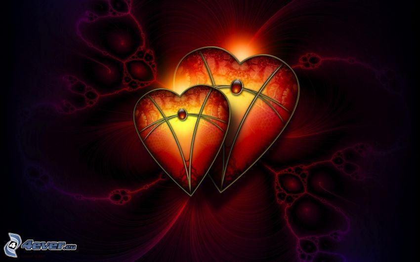 joyas en forma de corazón