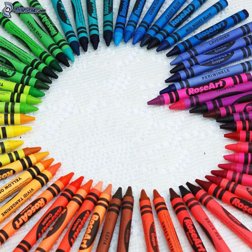 lápices de color, corazón