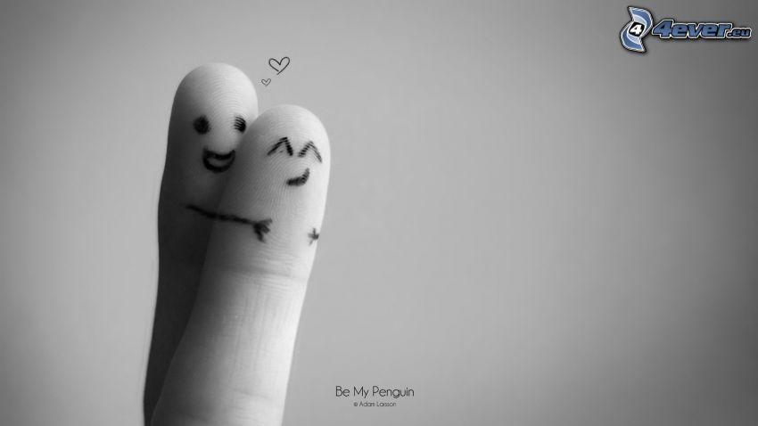 dedos, abrazar