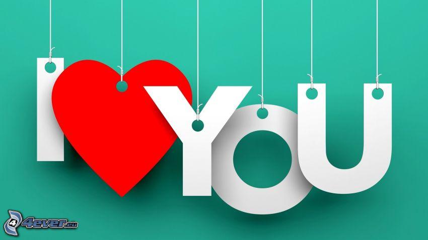 I love you, corazón