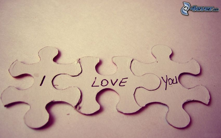 I love you, puzzle