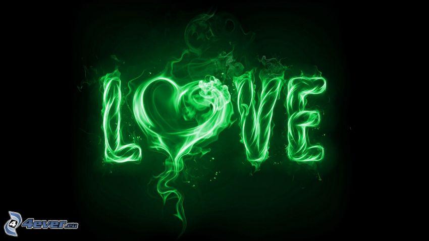 love, corazón, llama