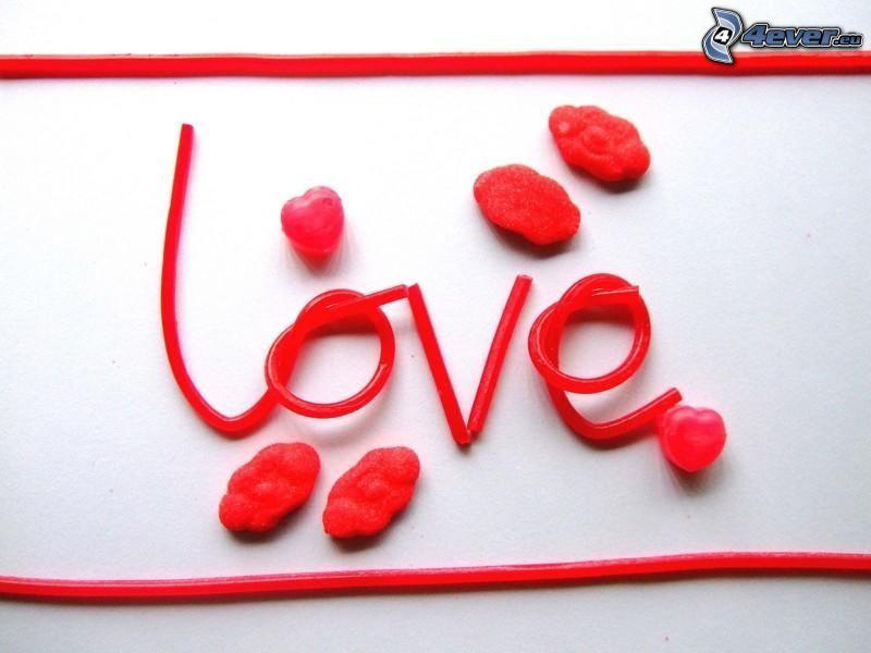 love, caramelos, dulces