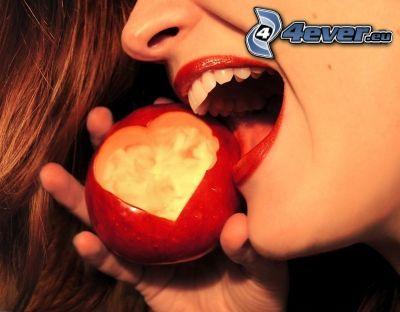manzana, corazón