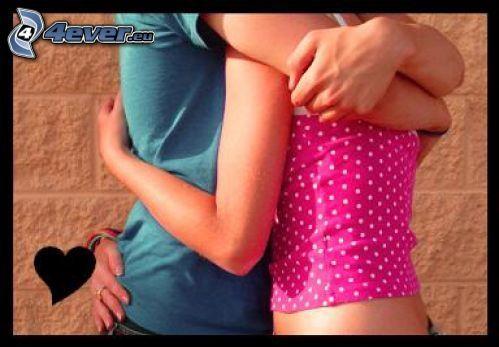 abrazo cariñoso, amor