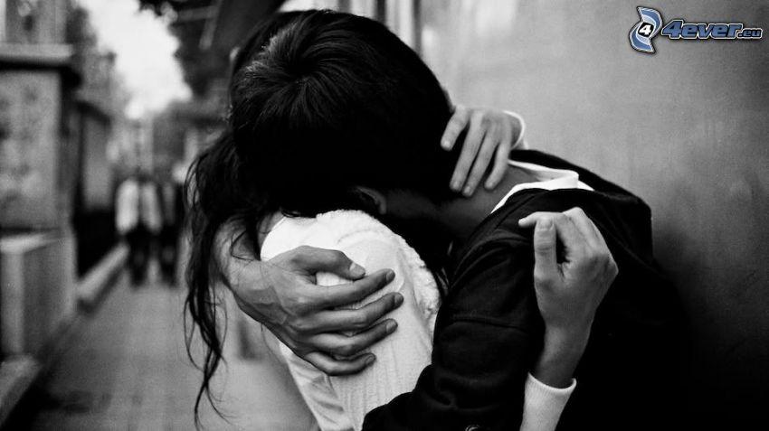 abrazo cariñoso, despedida