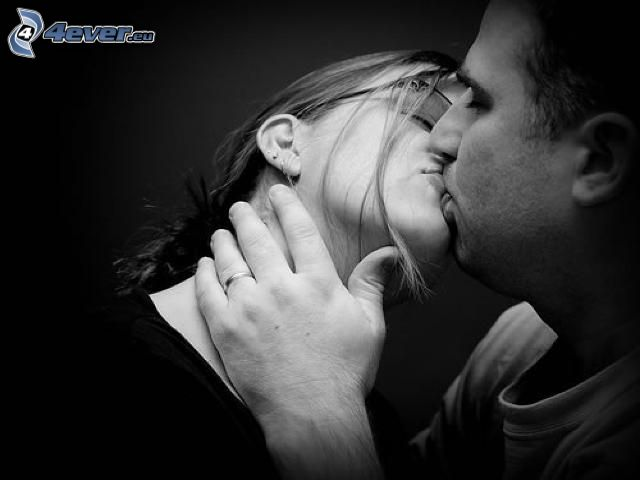 beso, pareja