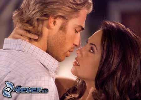 hombre y mujer, mirada, pasión, amor, pareja