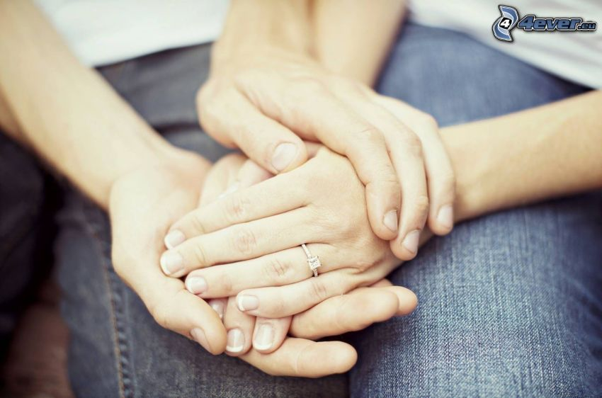 manos, pareja