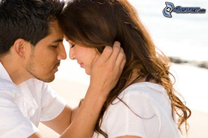 pareja, abrazo suave, romántica