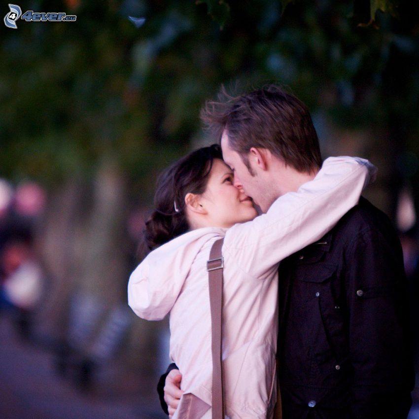 pareja, beso