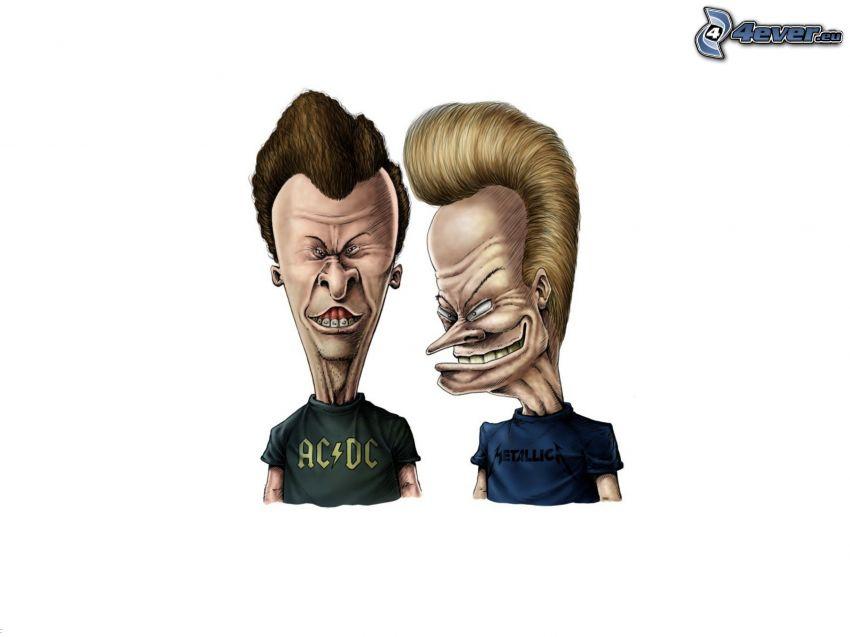 AC/DC, Metallica, caricatura
