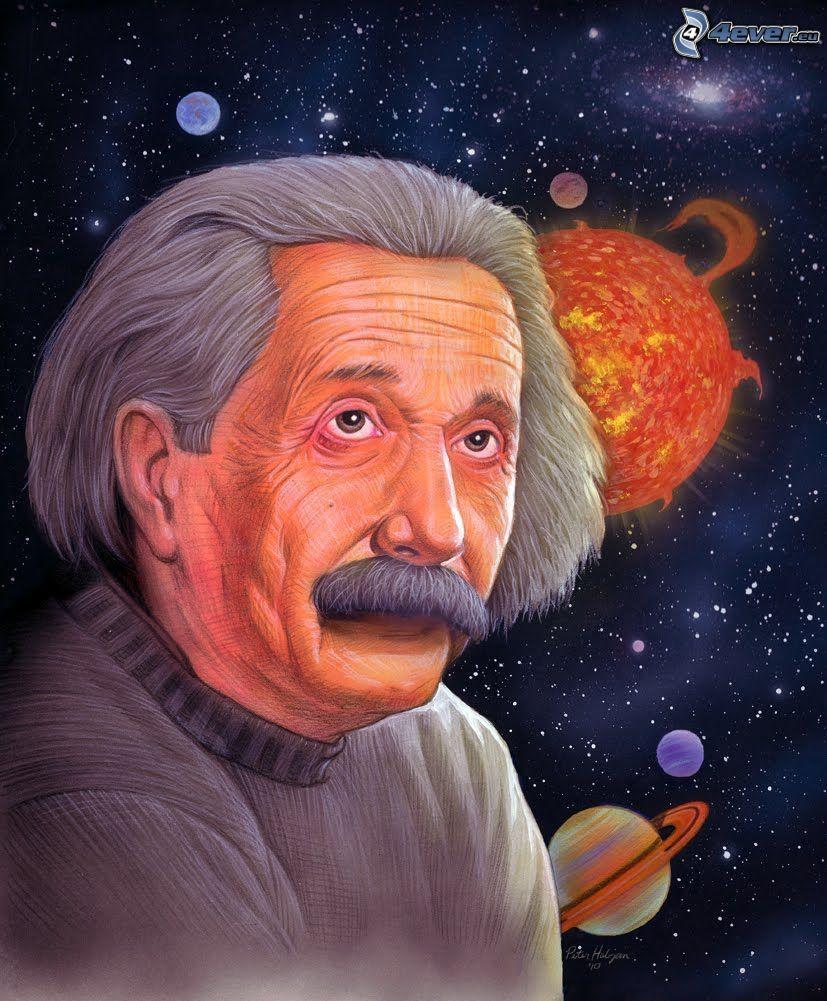 Albert Einstein, universo