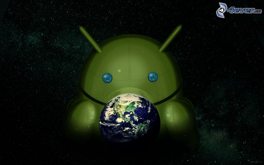 Android, Tierra, universo