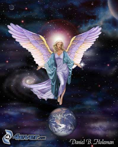 ángel de la historieta, Tierra, universo