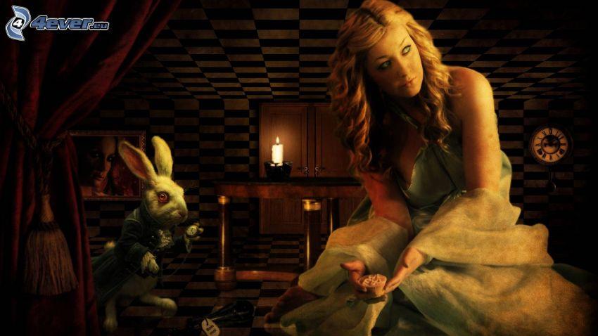 Alicia en el País de las Maravillas, conejo