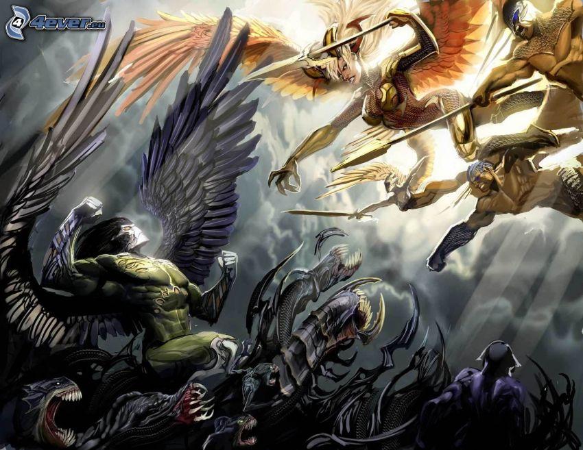 batalla, luchadora anime