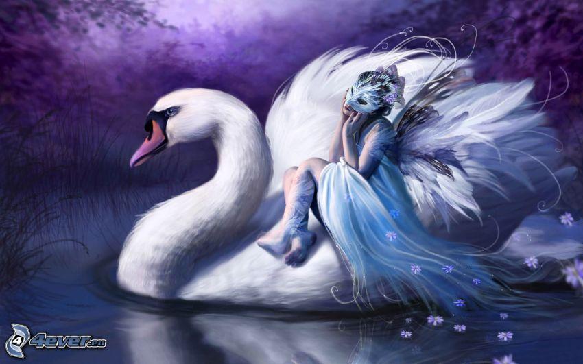 cisne, ángel