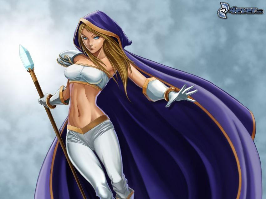 Crystal Maiden, luchadora anime