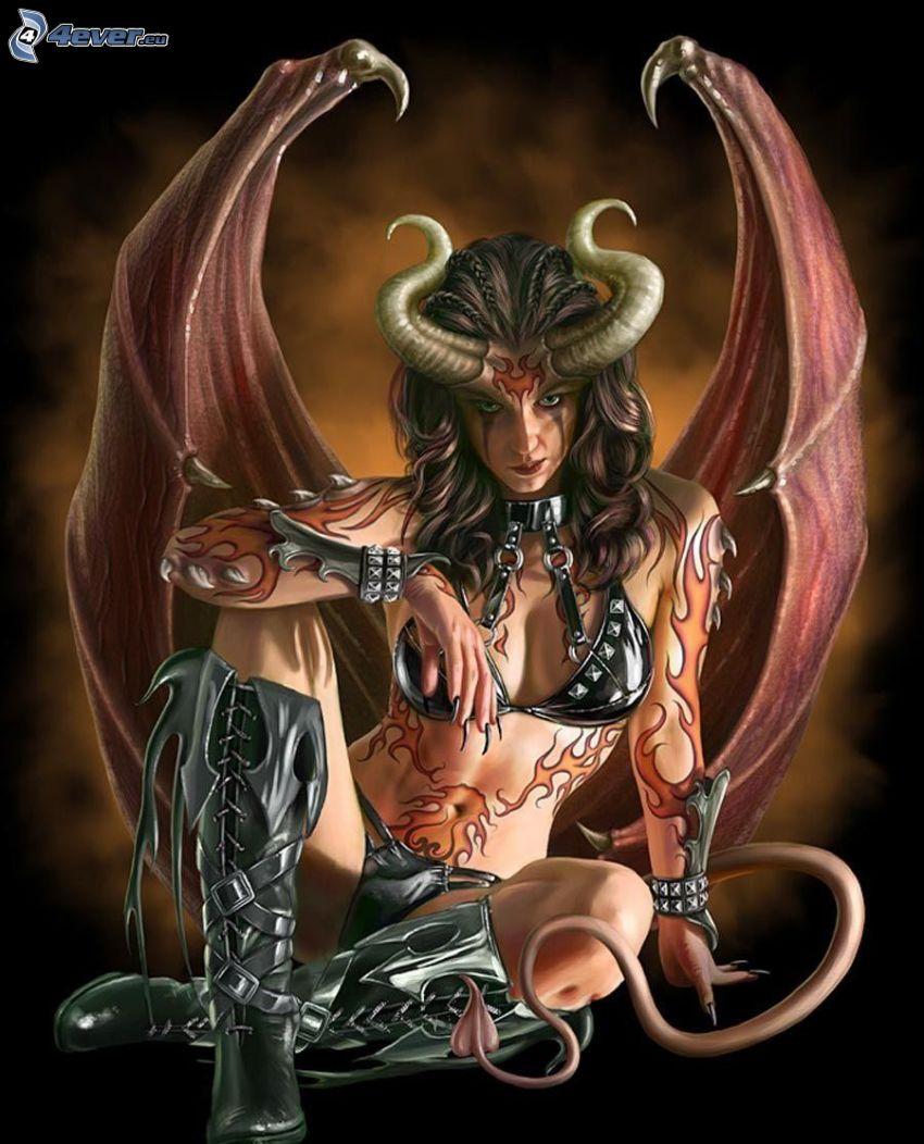 Demonio De Dibujos Animados