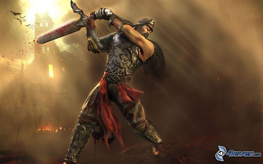 guerrero animado, espada
