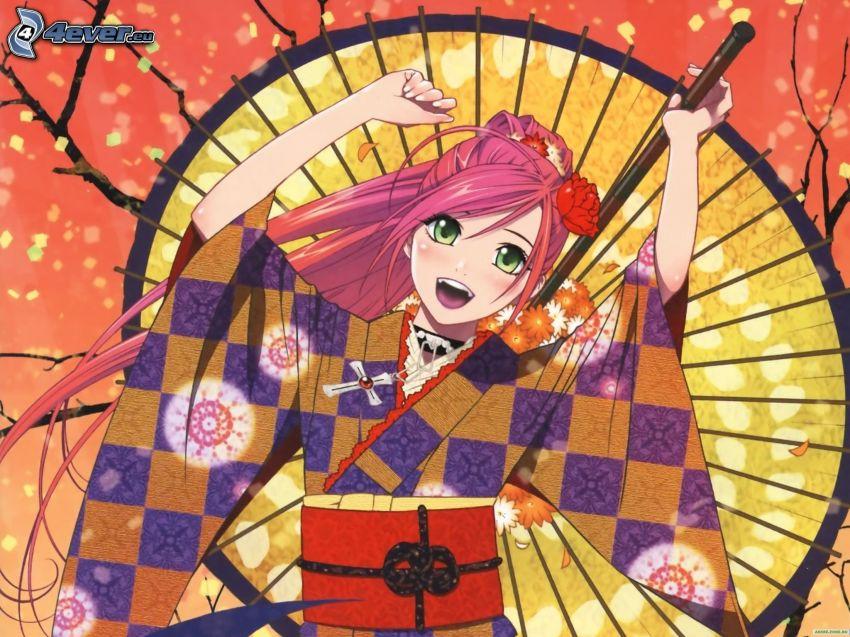 luchadora anime, alegría