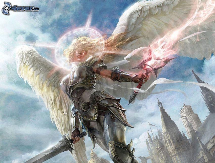 mujer fantástica, ángel