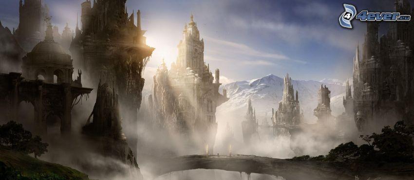 paisaje de dibujos animados, fantasía