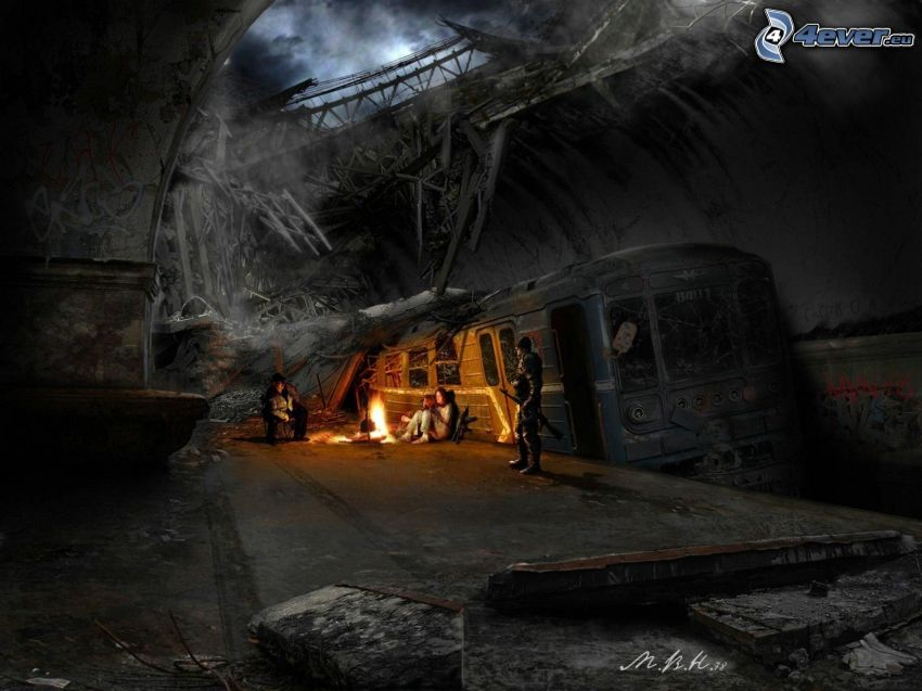 apocalipsis, metro, ciudad post-apocalíptica