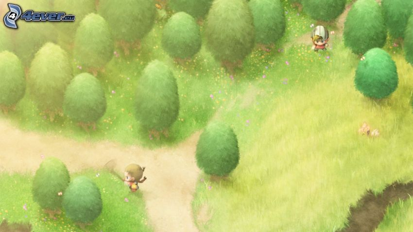 árboles, caracteres