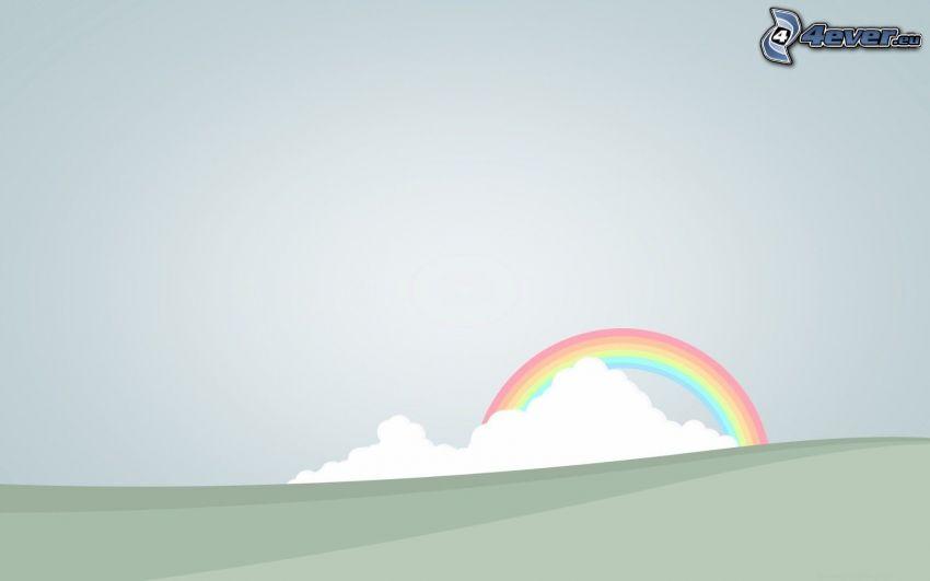 arco iris, nube