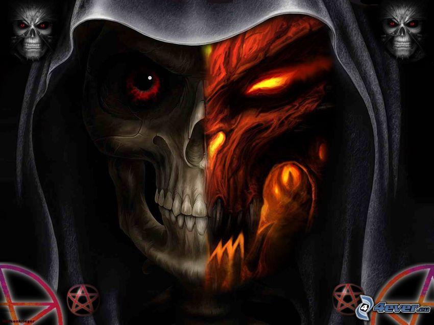 cadáver oscuro, cráneo