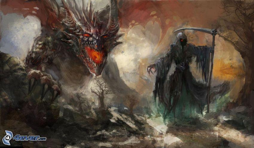 descarnada, dragón