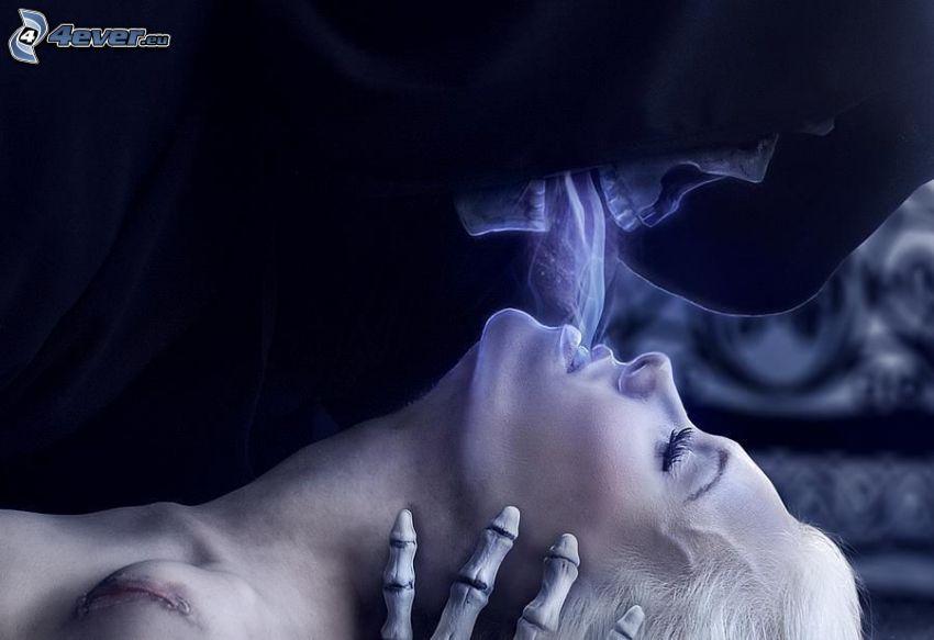 descarnada, muerte, alma