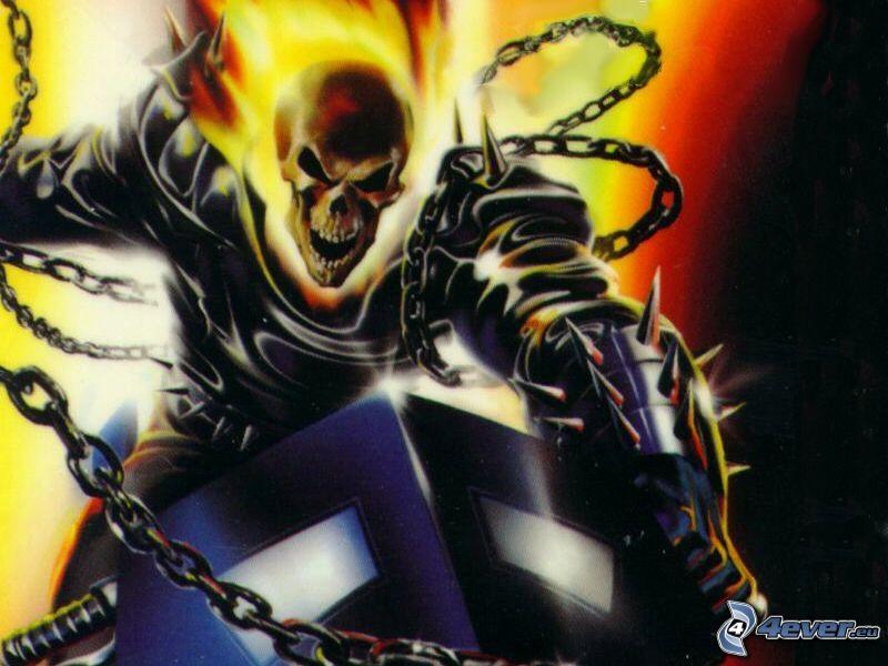 Ghost Rider, esqueleto