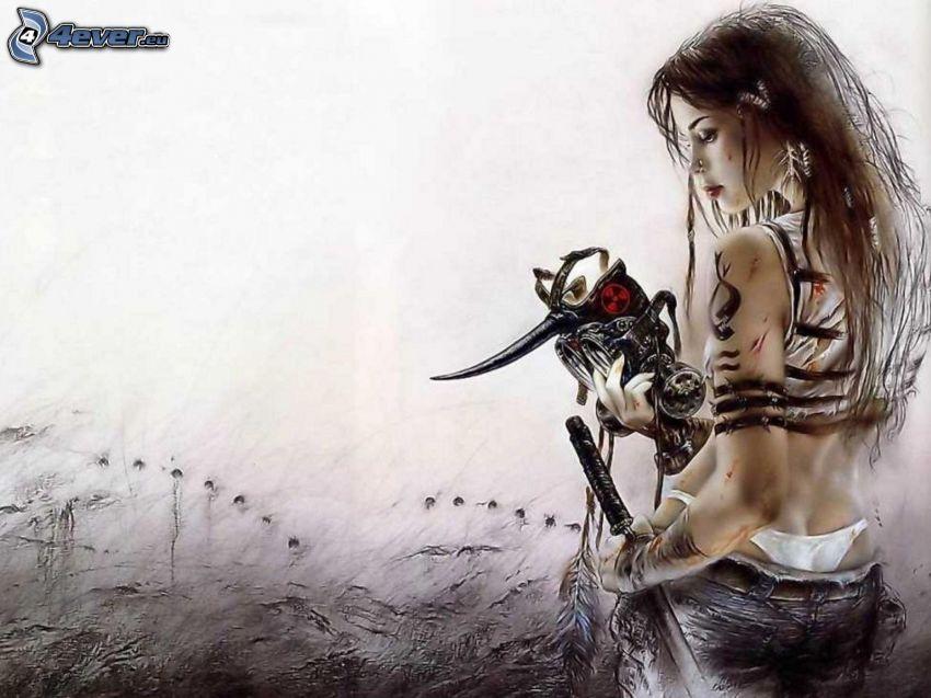guerrera, fantasía, Luis Royo