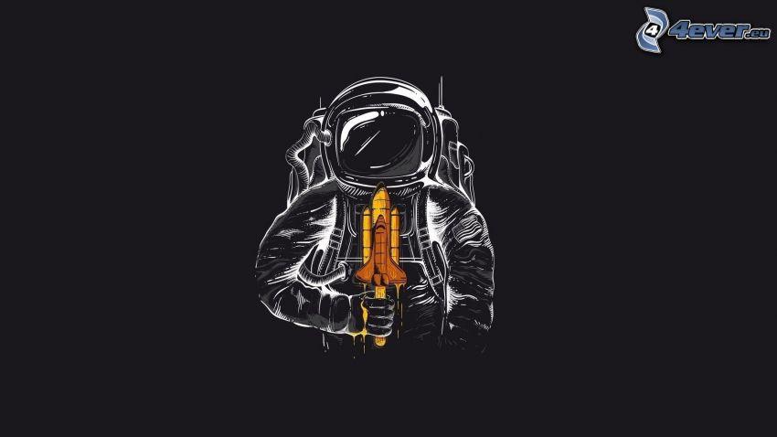 astronauta, transbordador espacial