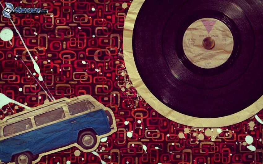 autobús, disco de vinilo