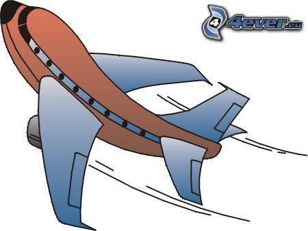 avión, dibujos animados